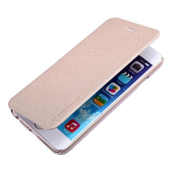 Husa Book Nillkin Sparkle iPhone 6 / 6S, Gold 2