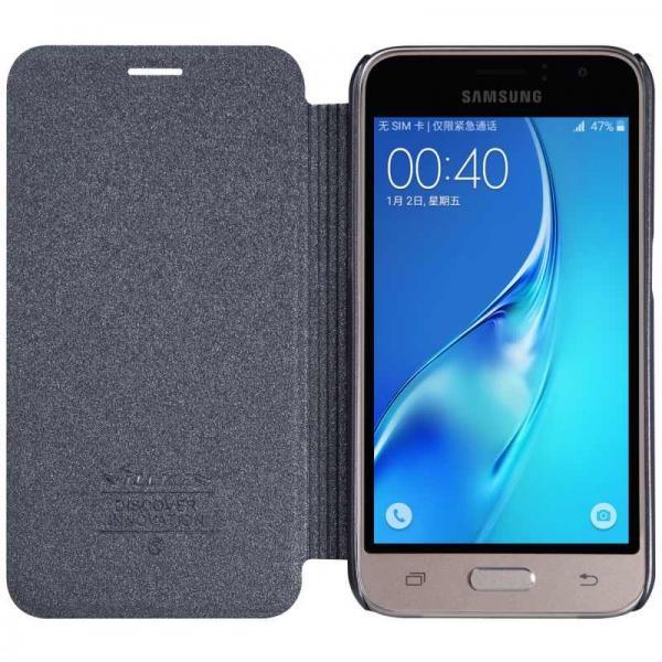 Husa Book Nillkin Sparkle Samsung Galaxy J1 (2016), Negru 4