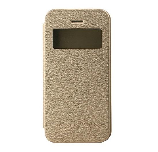 Husa Book View Mercury Goospery Wow iPhone 5 / 5S / SE, Gold 1