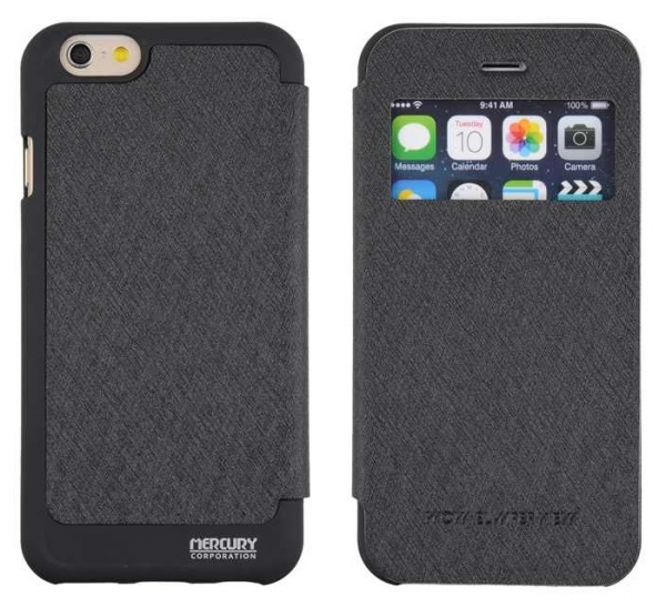 Husa Book View Mercury Goospery Wow iPhone 6 / 6S, Black 0