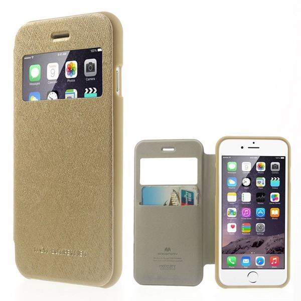 Husa Book View Mercury Goospery Wow iPhone 6 / 6S, Gold [1]
