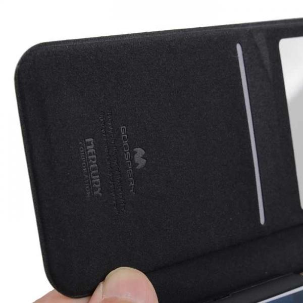 Husa Book View Mercury Goospery Wow iPhone 7, Black 2