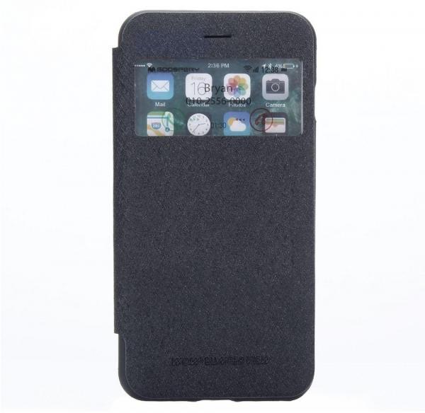Husa Book View Mercury Goospery Wow iPhone 7 Plus, Negru 0