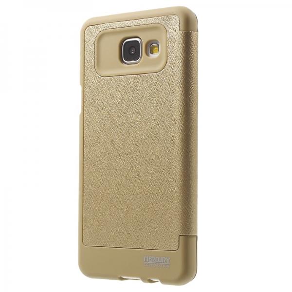 Husa Book View Mercury Goospery Wow Samsung Galaxy A5 (2016), Gold 1