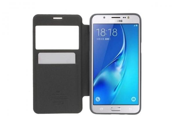 Husa Book View Mercury Goospery Wow Samsung Galaxy J5 (2016), Black 2