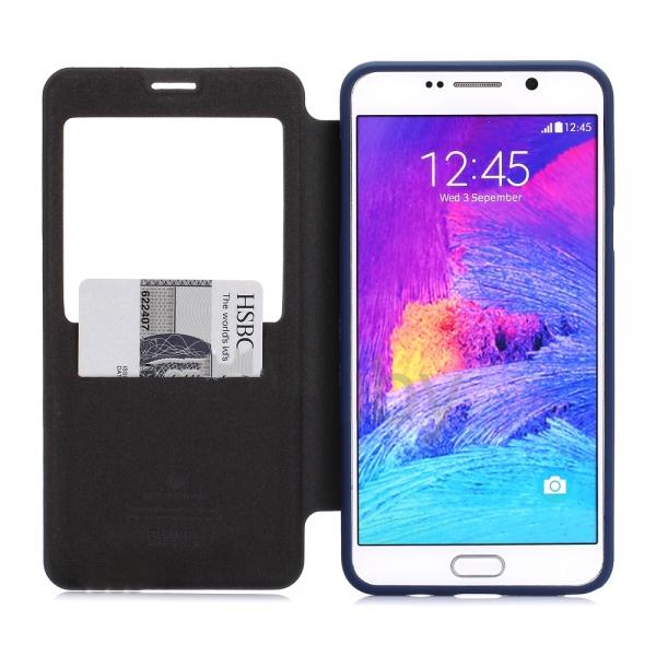 Husa Book View Mercury Goospery Wow Samsung Galaxy Note 5, Albastru 1