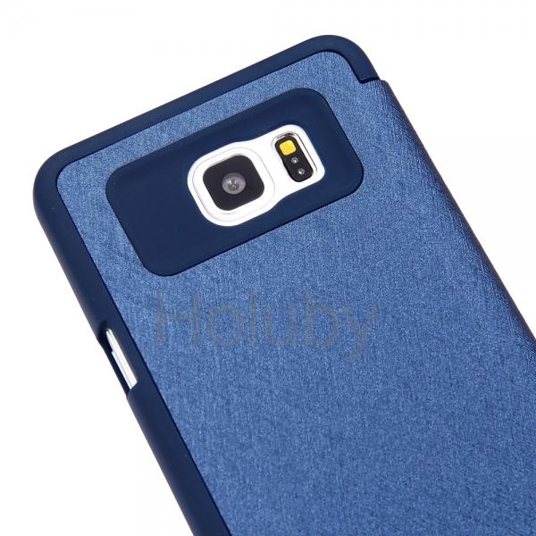 Husa Book View Mercury Goospery Wow Samsung Galaxy Note 5, Albastru 2