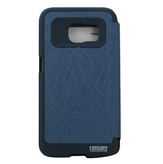 Husa Book View Mercury Goospery Wow Samsung Galaxy S6 Edge, Albastru 1