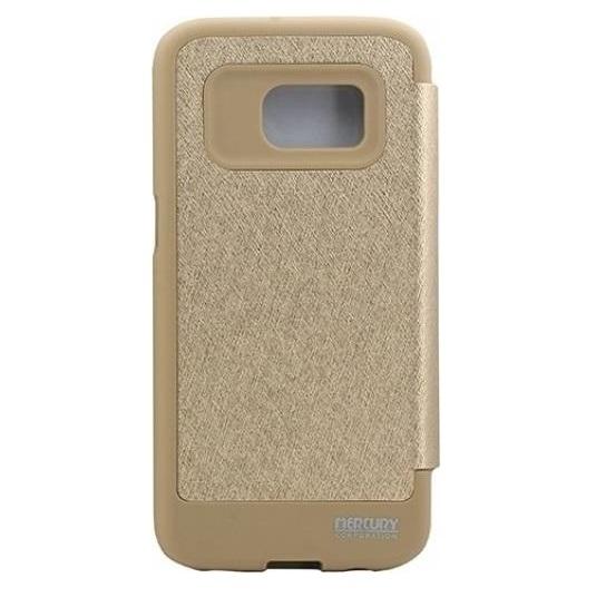 Husa Book View Mercury Goospery Wow Samsung Galaxy S7, Gold 1