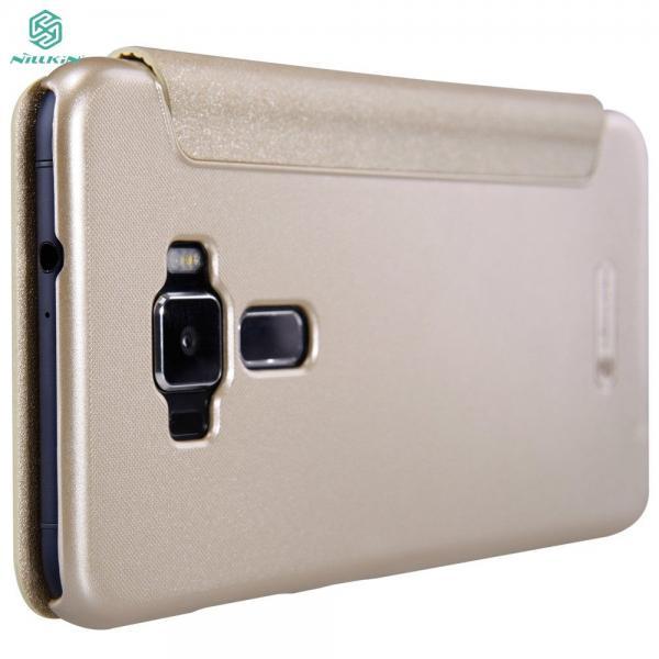 Husa Book View Nillkin Sparkle Asus ZenFone 3 ZE552KL, Gold 4