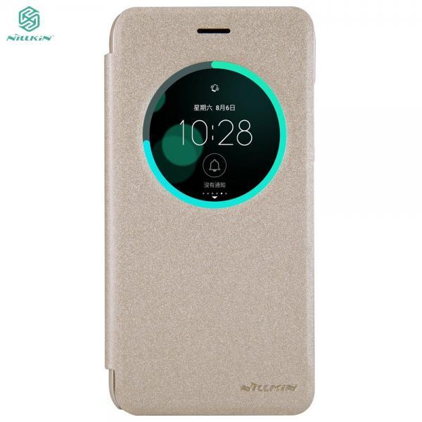 Husa Book View Nillkin Sparkle Asus ZenFone 3 ZE552KL, Gold 0