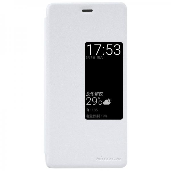 Husa Book View Nillkin Sparkle Huawei P9, Alb [0]