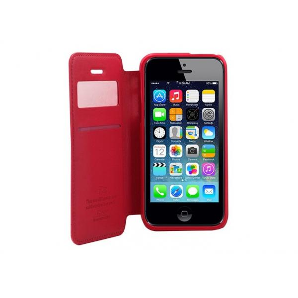 Husa Book View Roar Noble iPhone 5 / 5S / SE, Rosu 2