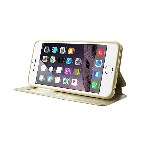 Husa Book View Roar Noble iPhone 6 / 6S, Gold