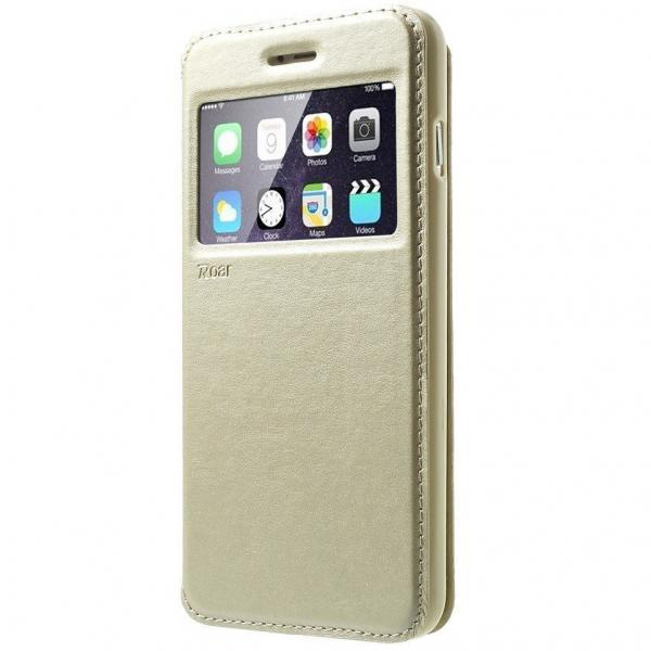Husa Book View Roar Noble iPhone 6 Plus / 6S Plus, Gold 0
