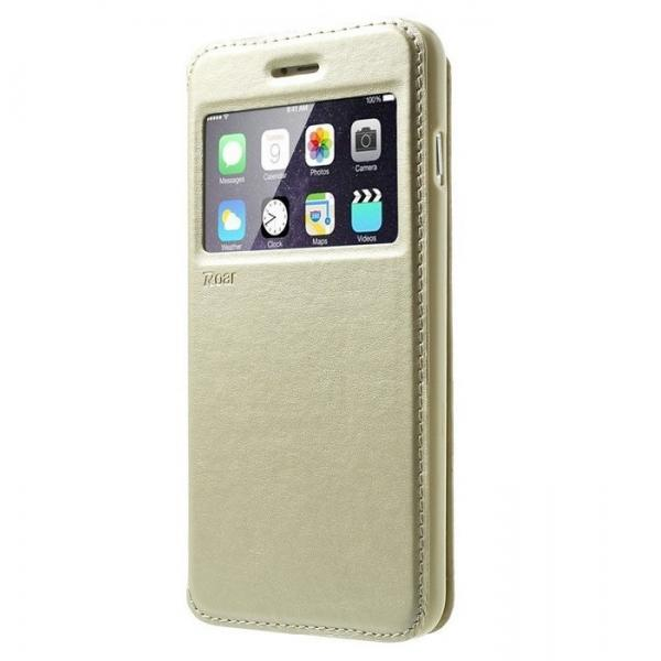 Husa Book View Roar Noble iPhone 7, Gold [0]