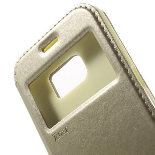 Husa Book View Roar Noble Samsung Galaxy S7, Gold 4