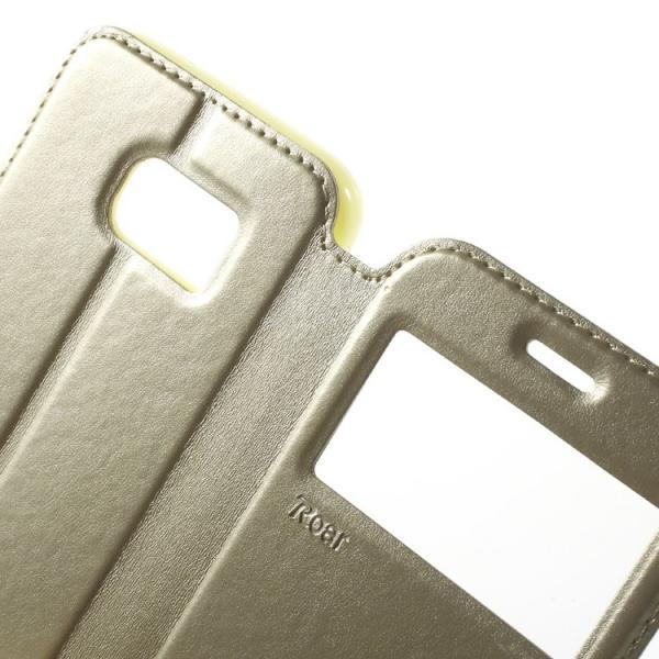 Husa Book View Roar Noble Samsung Galaxy S7, Gold 3