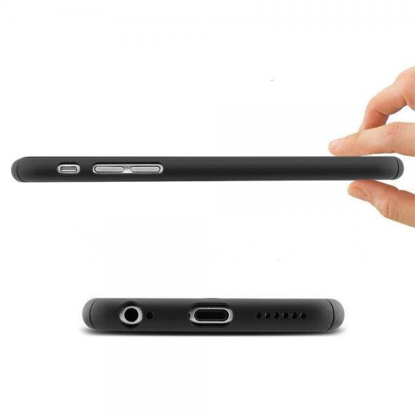 Husa Full Cover 360 (fata + spate + geam sticla) pentru Apple iPhone 6 Plus / 6S Plus, Negru [1]