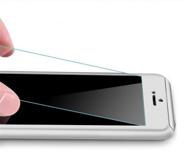 Husa Full Cover 360 (fata + spate + geam sticla) pentru Apple iPhone 6 Plus / 6S Plus, Silver 1