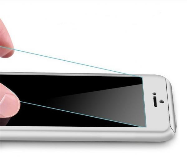 Husa Full Cover 360 (fata + spate + geam sticla) pentru Apple iPhone 7, Silver 1