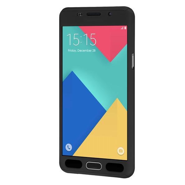 Husa Full Cover 360 (fata + spate + geam sticla) pentru Samsung Galaxy A7 (2016), Negru 1