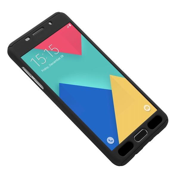 Husa Full Cover 360 (fata + spate + geam sticla) pentru Samsung Galaxy A7 (2016), Negru 3