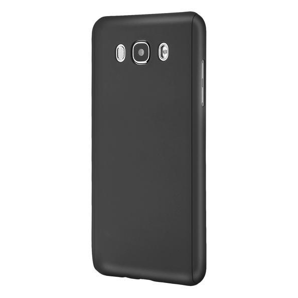 Husa Full Cover 360 (fata + spate + geam sticla) pentru Samsung Galaxy J5 (2016), Negru 1