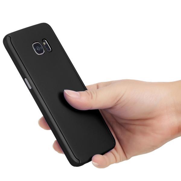Husa Full Cover 360 (fata + spate) pentru Samsung Galaxy S7 Edge, Negru 2