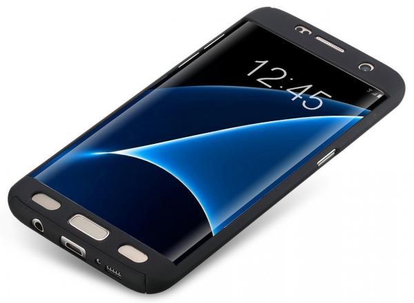 Husa Full Cover 360 (fata + spate) pentru Samsung Galaxy S7 Edge, Negru 1