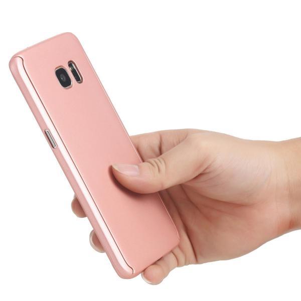 Husa Full Cover 360 (fata + spate) pentru Samsung Galaxy S7 Edge, Rose Gold 2