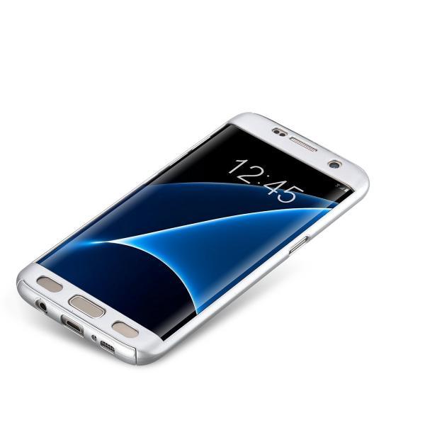 Husa Full Cover 360 (fata + spate) pentru Samsung Galaxy S7 Edge, Silver 1