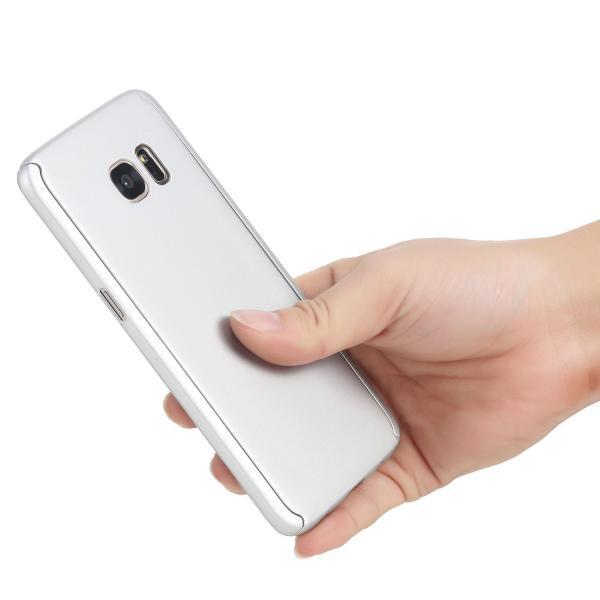 Husa Full Cover 360 (fata + spate) pentru Samsung Galaxy S7 Edge, Silver 2