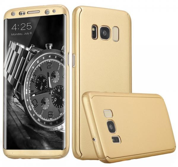 Husa Full Cover 360 (fata + spate) pentru Samsung Galaxy S8 Plus, Gold