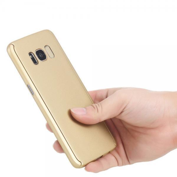 Husa Full Cover 360 (fata + spate) pentru Samsung Galaxy S8 Plus, Gold [2]