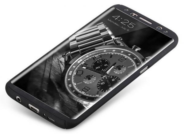 Husa Full Cover 360 (fata + spate) pentru Samsung Galaxy S8 Plus, Negru 1