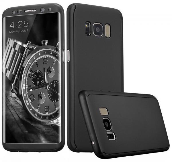 Husa Full Cover 360 (fata + spate) pentru Samsung Galaxy S8 Plus, Negru 0