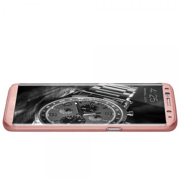 Husa Full Cover 360 (fata + spate) pentru Samsung Galaxy S8, Rose Gold 1