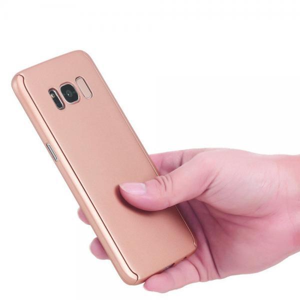 Husa Full Cover 360 (fata + spate) pentru Samsung Galaxy S8, Rose Gold 2