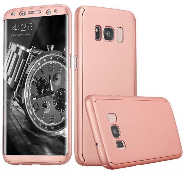 Husa Full Cover 360 (fata + spate) pentru Samsung Galaxy S8, Rose Gold 0