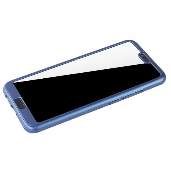 Husa Full Cover 360 + folie sticla Huawei Honor 10, Albastru [3]