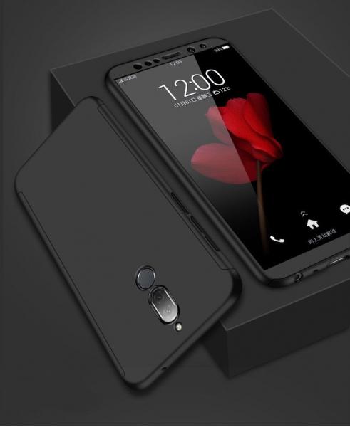 Husa Full Cover 360 + folie sticla Huawei Mate 10 Lite, Negru 1