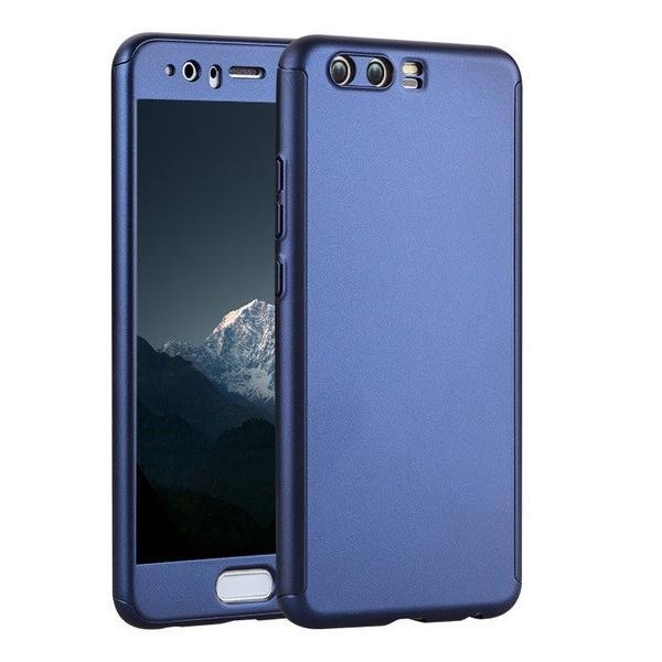 Husa Full Cover 360 + folie sticla Huawei P10 Plus, Albastru 0
