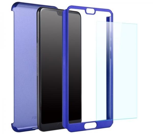 Husa Full Cover 360 + folie sticla Huawei P20 Pro, Albastru 1