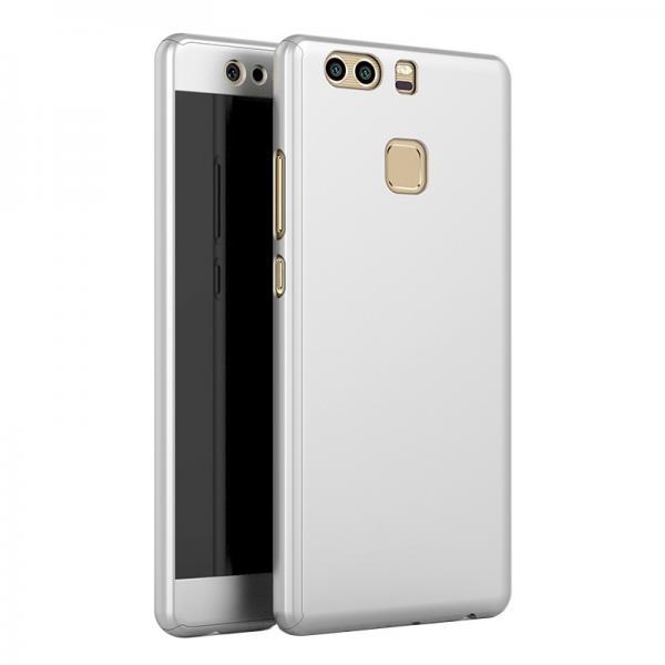 Husa Full Cover 360 + folie sticla Huawei P9, Silver 0