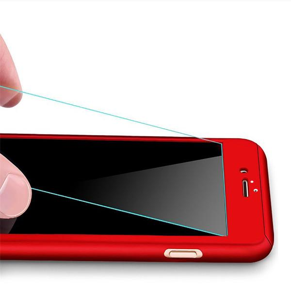 Husa Full Cover 360 + folie sticla iPhone 8 Plus, Red 1