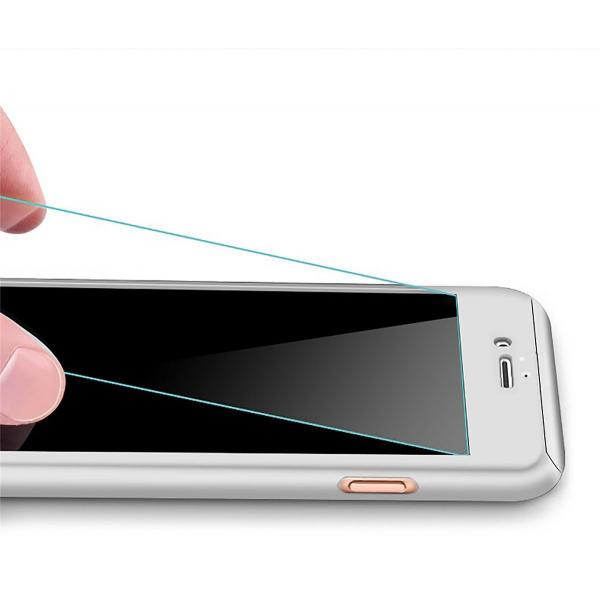 Husa Full Cover 360 + folie sticla iPhone 8 Plus, Silver 1