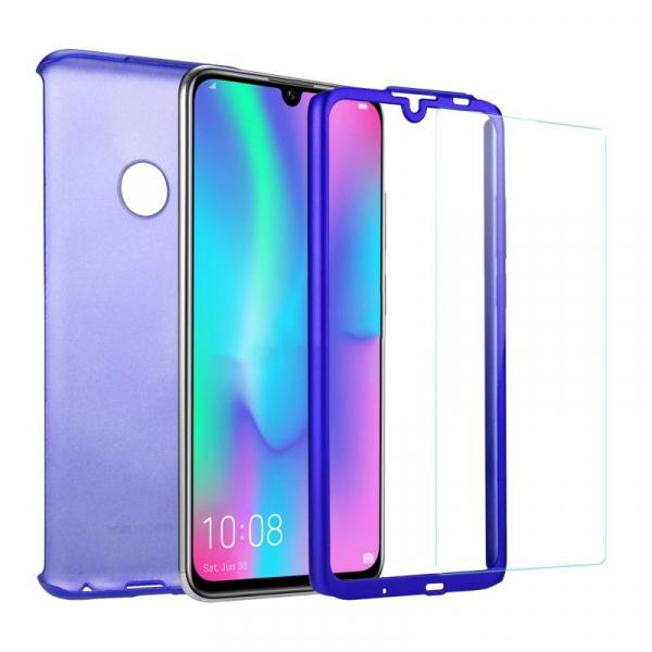 Husa Full Cover 360 + folie sticla pentru Huawei Honor 10 Lite, Albastru 1