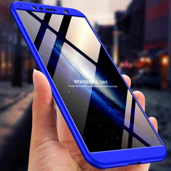 Husa Full Cover 360 + folie sticla pentru Huawei Honor View 10, Albastru [1]