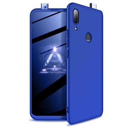 Husa Full Cover 360 + folie sticla pentru Huawei P Smart Z, Albastru 0